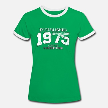 Established established 1975 - aged to perfection (no) - Kontrast-T-skjorte for kvinner