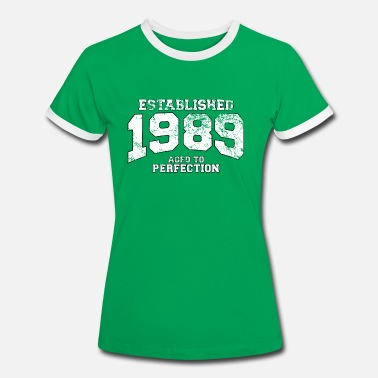 Anniversaire established 1989 - aged to perfection (fr) - T-shirt contrasté Femme