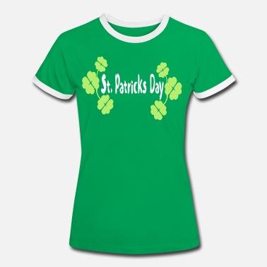 7513f7a51 shamrock st.patrick's day vector - 15 - Women'. Women's Ringer T- Shirt