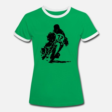 Motorcycle Classic Bike002 - Women's Ringer T-Shirt