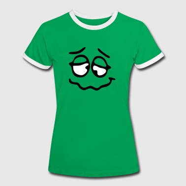 Funny Face, Cartoon Face, Trickfilm, Smiley - Vrouwen contrastshirt