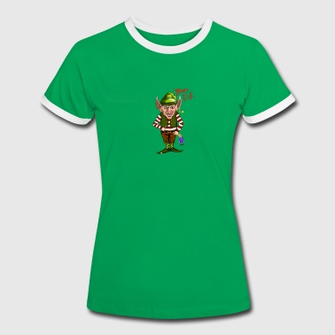 Christmassy Bad Elf - Women's Ringer T-Shirt