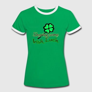 Sharing Irish Luck St Patricks Day Irisch Irland - Frauen Kontrast-T-Shirt