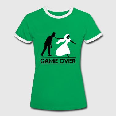JGA game over Bachelor farewell wedding party - Women's Ringer T-Shirt