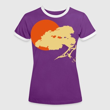 Bonsai and sun - Kontrast-T-shirt dam