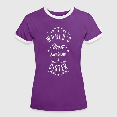 awesome sister - Vrouwen contrastshirt