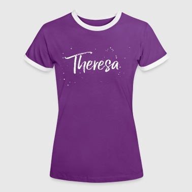 Theresa - Frauen Kontrast-T-Shirt