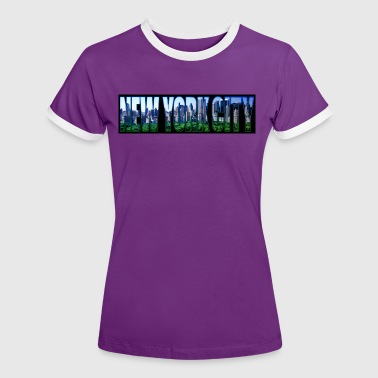 new york city - T-shirt contrasté Femme