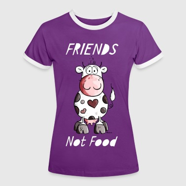 Friends Not Food - Vegan - Women's Ringer T-Shirt