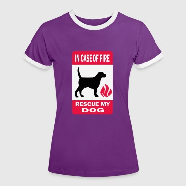 save my dog - T-shirt contrasté Femme