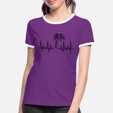 Palm Wave Palm Tree - Women's Ringer T-Shirt
