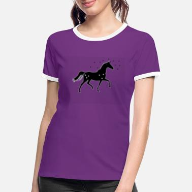 Creature Unicorn mythical creature horse girl - Women's Ringer T-Shirt