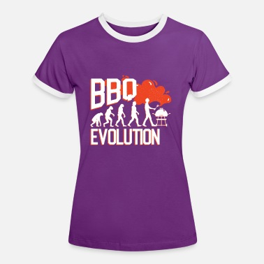 Funny BBQ / BBQ Evolution Gift - Women's Ringer T-Shirt