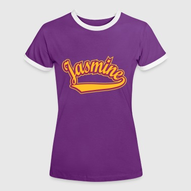 Jasmine Jasmine - T-shirt Personalised with your name - Women's Ringer T-Shirt