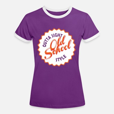 School Style old school style shirt - Women's Ringer T-Shirt