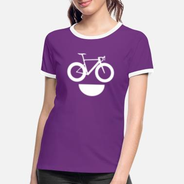 Fixie Racefiets lach fixie singlespeed grappig gezicht - Vrouwen ringer T-Shirt