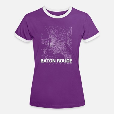 Baton Rouge Baton Rouge city map and streets - Women's Ringer T-Shirt