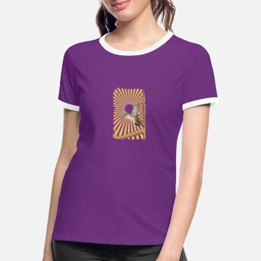 Sunburst small bird with sunburst - Women's Ringer T-Shirt