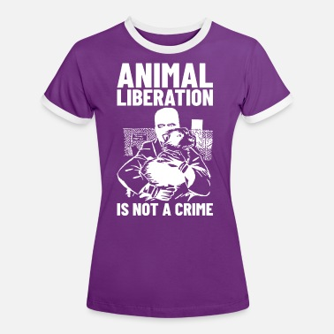 Animal Liberation Animal Liberation Is not A Crime (white) - Vrouwen ringer T-Shirt