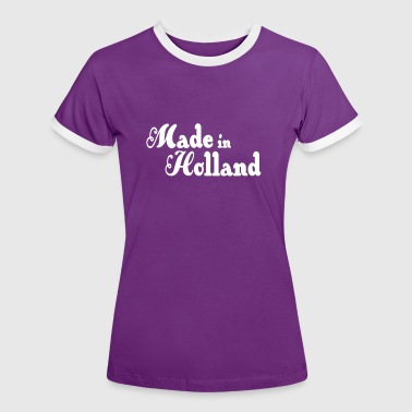 Made in Holland - Vrouwen contrastshirt