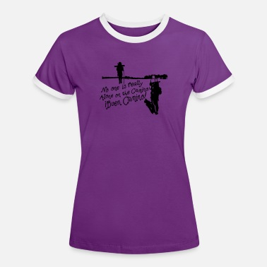 Camino De Santiago No one is Really alone on the Camino - Women's Ringer T-Shirt