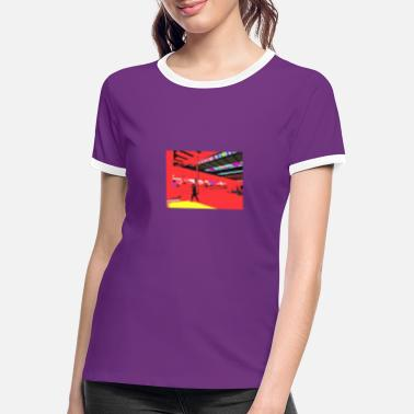 Railway Station railway station - Women's Ringer T-Shirt