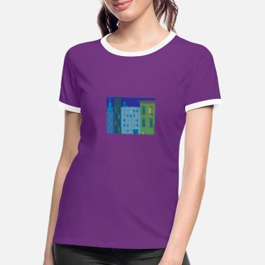 At Night City at night city at night - Women's Ringer T-Shirt