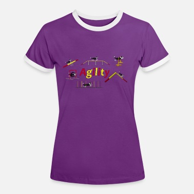 Agility Agility equipment with Titel.png - T-shirt contrasté Femme