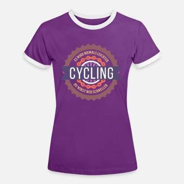 Cycling cyclists cycling road bike - Women's Ringer T-Shirt