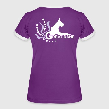 Great Dane 3f r - Women's Ringer T-Shirt