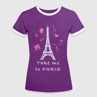 Paris - Frauen Kontrast-T-Shirt