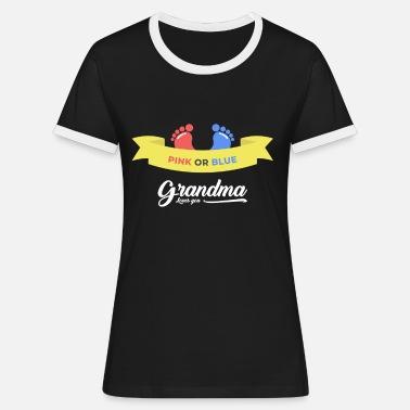 702f0c510 Niño o niña - Fiesta de bebé - Abuela - Camiseta contraste mujer