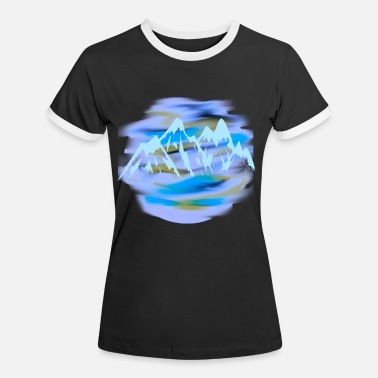 Mountains Mountains mountain mountains peaks - Women's Ringer T-Shirt