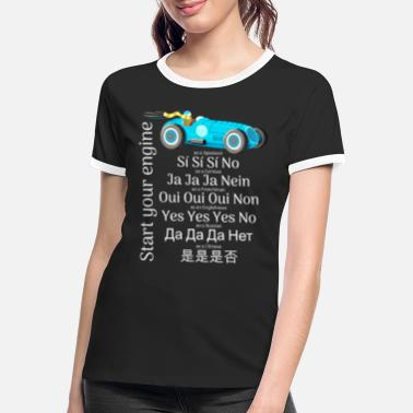 Sound Motorsport: Starting the engine sounds different - Women's Ringer T-Shirt