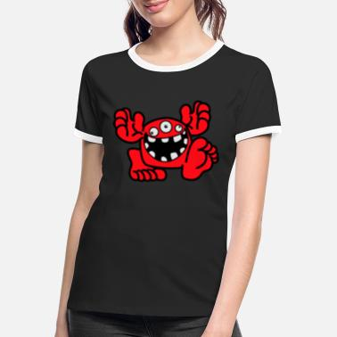 Proud To Be A Monster Cartoon by Cheerful Madness! - Women's Ringer T-Shirt