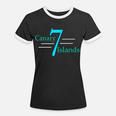 Canary Islands Canary 7 Isalnds - Women's Ringer T-Shirt