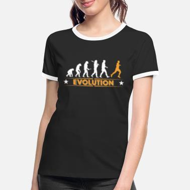 Running Running Evolution - orange/weiss - Frauen Ringer T-Shirt