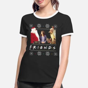 Friends X-Mas Santa Monica Holiday Armadillo - Kontrast T-skjorte for kvinner