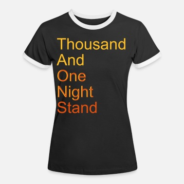 Forhold thousand and one night stand (2colors) - Kontrast T-skjorte for kvinner