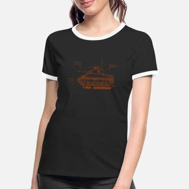 World of Tanks M4 Sherman - Vrouwen ringer T-Shirt