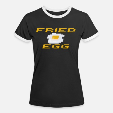 Fried Egg SBDesigns - Fried Egg / Fried Egg - Women's Ringer T-Shirt