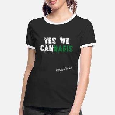 Yes We Cannabis yes we cannabis - T-shirt contrasté Femme