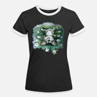Chill-Mieze - Frauen Ringer T-Shirt