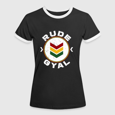 Rude Gyal white distressed - Frauen Kontrast-T-Shirt