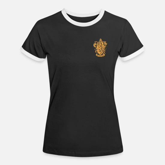 Crest T-shirts - Harry Potter Gryffindor Coat of Arms small - Kontrast T-shirt dam svart/vit