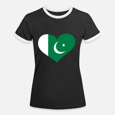 Pakistan Funny Pakistan Herz; Heart Pakistan - Women's Ringer T-Shirt