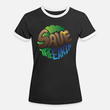 Earth Day Earth Day / Earth Day Safe Trees Gift - Kontrast T-shirt dam