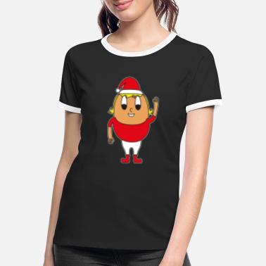 Winter Christmas mom egg - Women's Ringer T-Shirt