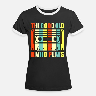 Radio Drama Retro Radio Plays - Women's Ringer T-Shirt