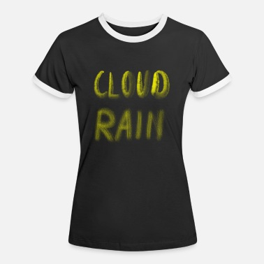 Cloud and rain - Frauen Ringer T-Shirt